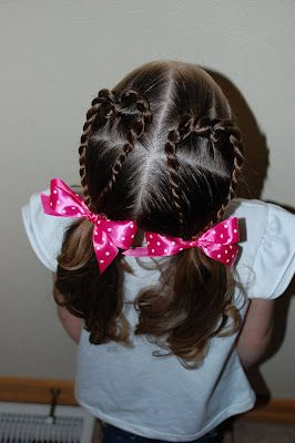 valentine girl hairdos