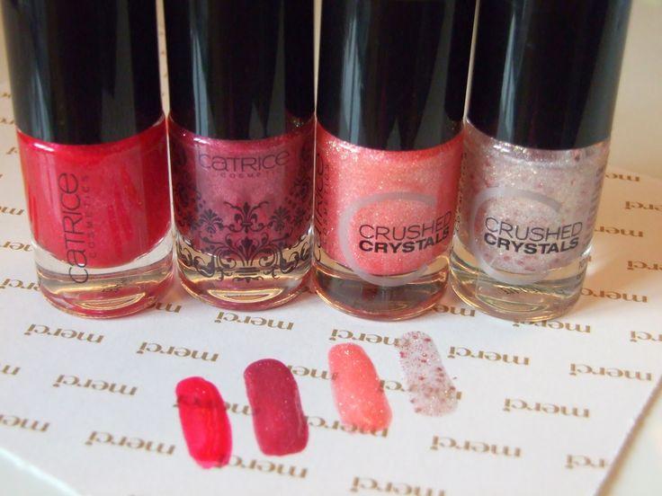 Pinky glitter and liquid sand nailpolishes - Ružové laky na nechty s glitrom a pieskové laky #Catrice #nails