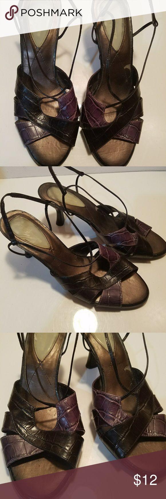 Strappy Liz Claiborne Sandals Sexy Strappy Liz Claiborne Sandals. Size 8M. 3 inch Heels. Good Condition. Very little wear. Liz Claiborne Shoes Sandals