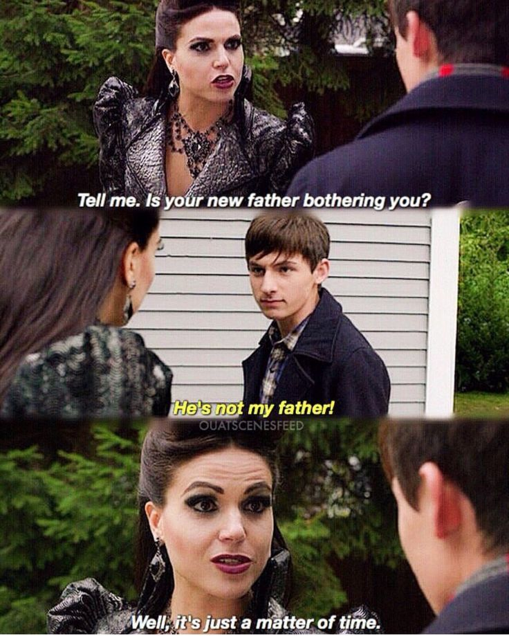 """The Evil Queen's like, """"My Thief would have made a great step-father to you. We would've been really happy."""""""