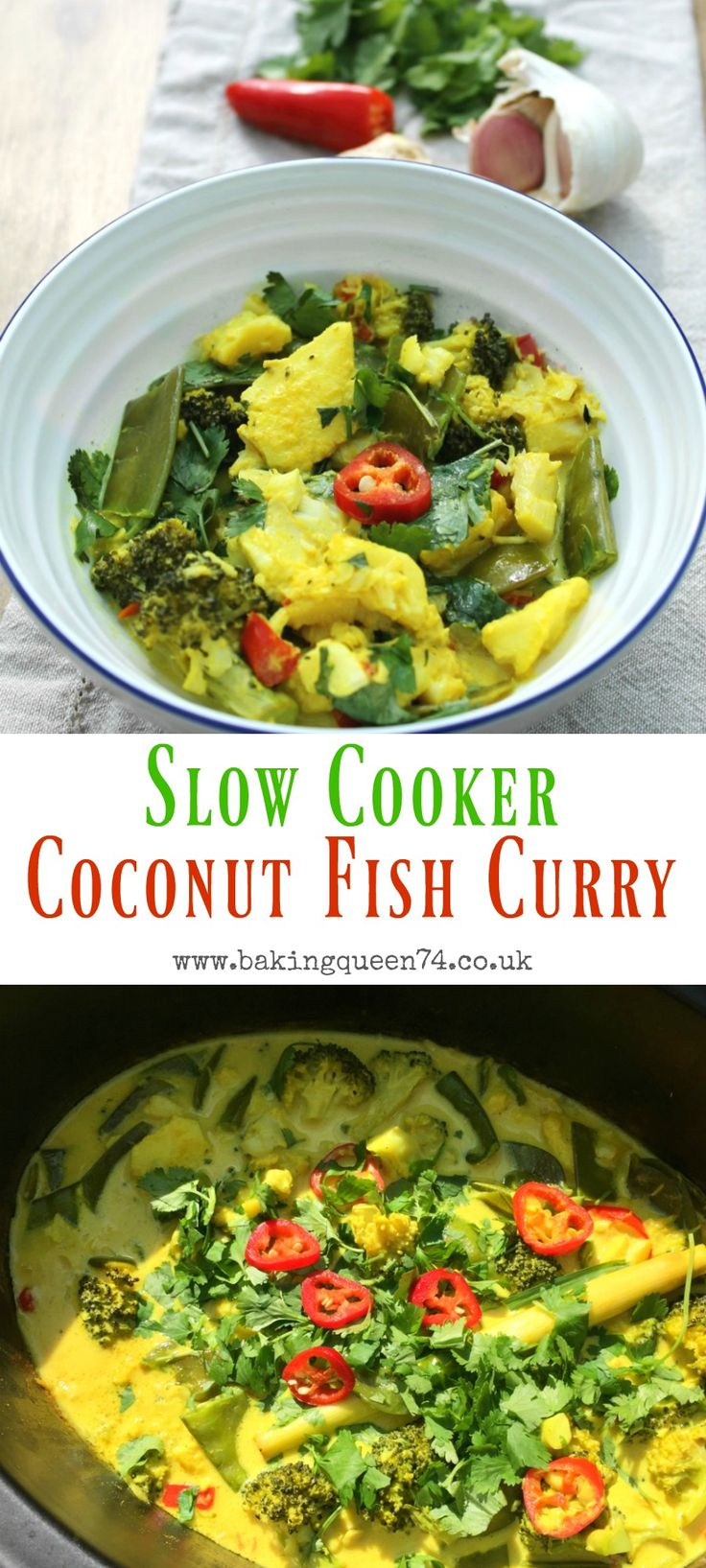 Slow cooker coconut fish curry – an easy to make dish, full of flavour, using yo…