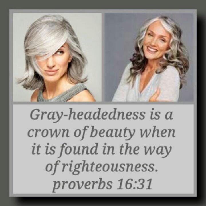 Proverbs 16:31. I love grey hair. Love the proverb.