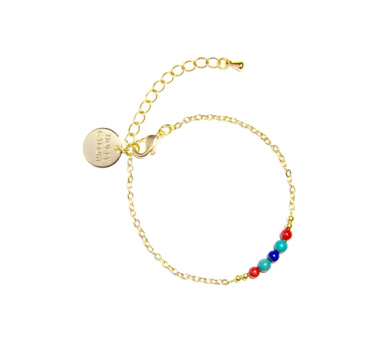 IsabelBracelet - LapisLazuli Coral & Turquoise -  Combine with our Isabel or ValentinaNecklace for chic and sharp accessory styling, or go the extra mile by wearing with our Isabel necklace, as a double-wrap ankle bracelet. £29.99