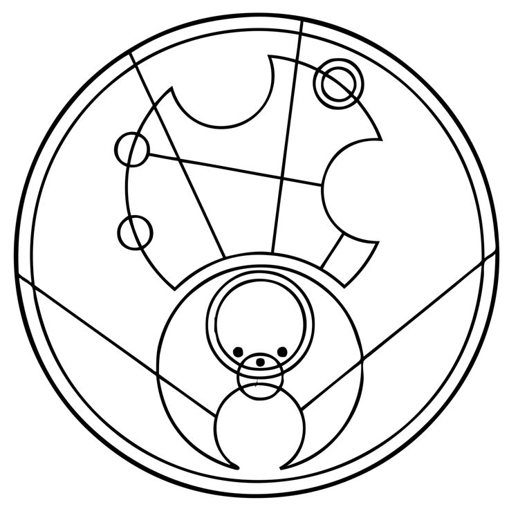 Hello Sweetie translated into Gallifreyan by TimelordScribe on DeviantArt