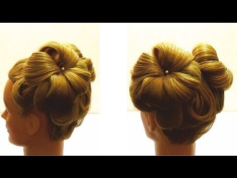 Вечерняя прическа ,прическа на выпускной. How to make evening hairstyle - YouTube