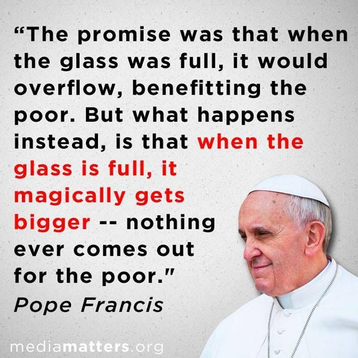 Image result for pope francis & income inequality