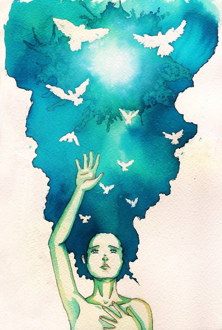 Hope by ~BlueShining - watercolor painting