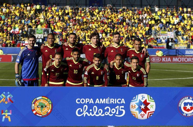 11 inicial de #Venezuela ante #Colombia en la #CopaAmérica de #Chile2015. FOTO: Carlos García Rawlins/REUTERS