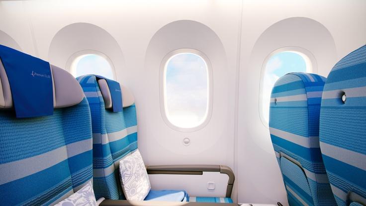 Windows in our new Dreamliner.     Okna w naszym nowym Dreamlinerze.