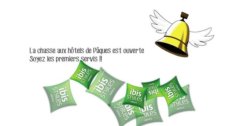 Profitez des vacances de Pâques pour séjourner à l'hôtel Ibis Styles Nantes Rezé ! http://www.hotel-styles-nantes.com/