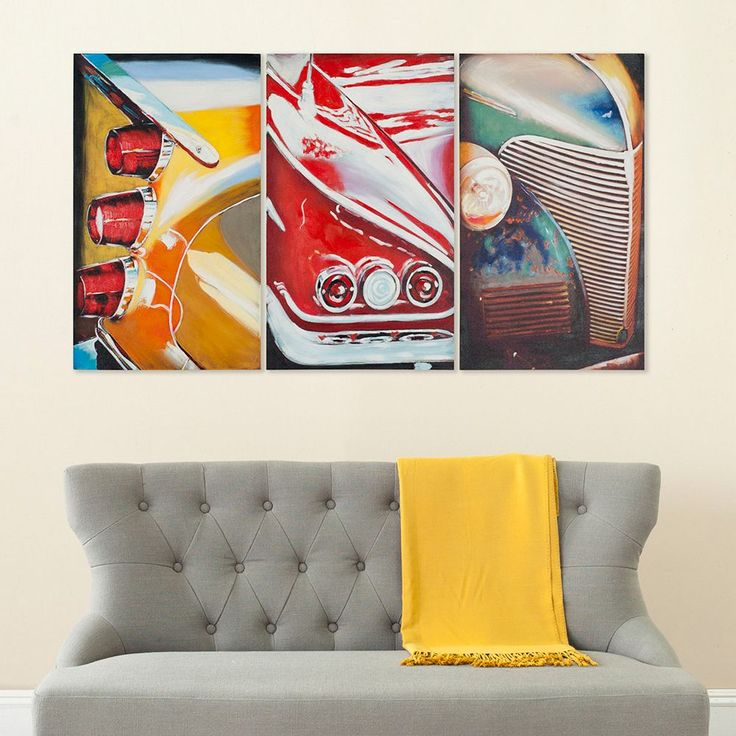 Safavieh 3-piece Auto Legends Triptych Wall Art Set, Multicolor