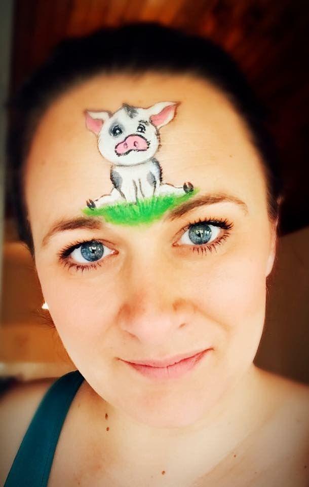 Moana pig | Facepainting ideas | Pig face paint, Easy face ...