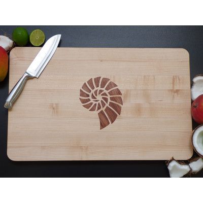 Mayfield Modern Cutting Board with Bubinga Shell Inlay Products