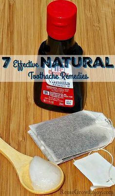 Have a toothache and looking for natural way to take care of it? Check out these 7 Effective Natural Toothache Remedies! http://reusegrowenjoy.com/7-effective-natural-toothache-remedies/