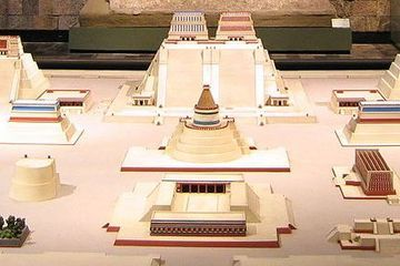 Tenochtitlán was an Aztec city that flourished between A.D. 1325 and 1521. Built on an island on Lake Texcoco, it had a system of canals and causeways that supplied the hundreds of thousands of people who lived there.
