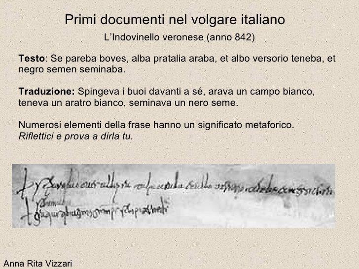 indovinello veronese. nascita della lingua italiana. capua 842 d.c.