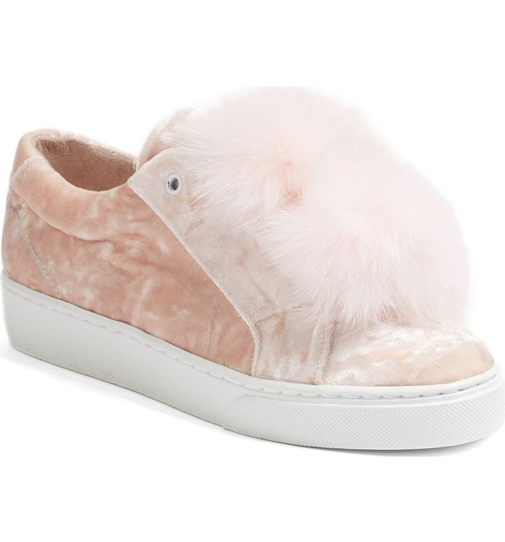 Main Image - Here/Now Emma Genuine Fox Fur Trim Sneaker (Women)