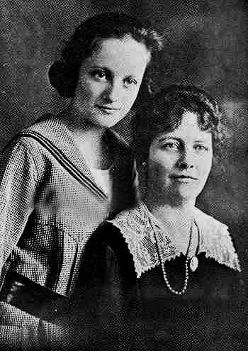 Joan Crawford and her mother.