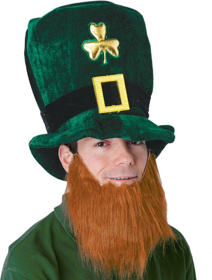wholesalePlush Leprechaun Hat with Beard (Case of 6)