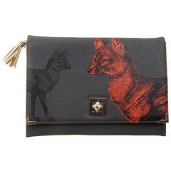 Disaster Designs Heritage & Harlequin Fox Clutch Bag | ScaryCanary