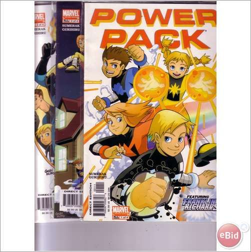 Marvel Comics Power Pack set of 3 comics on eBid United Kingdom