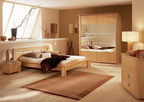 wandfarbe braun modernes schlafzimmer