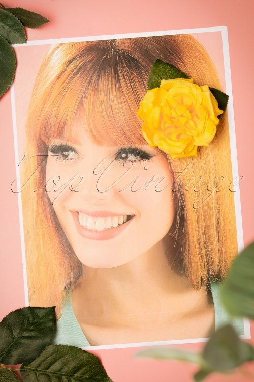 3c898f42d39 Collectif Clothing Yellow Garden Hairclip 200 80 24372 15112017 003W