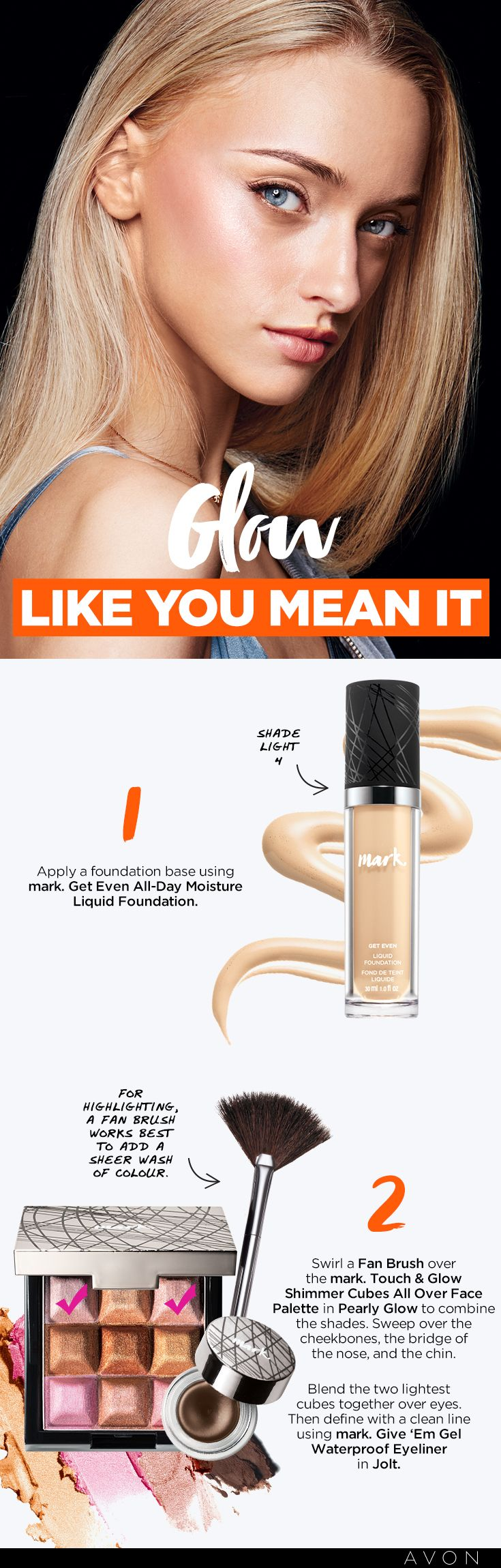 To get this look, skip the heavy makeup and focus on your glow. | Shop this look at my eStore: http://avon4.me/1PpVtya