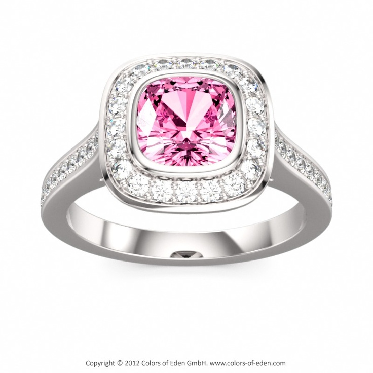 Pink Sapphire Engagement Ring Maharajah #engagement #ring