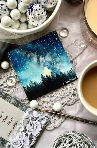 Milky Way, Space Art  @kari_weatherbee