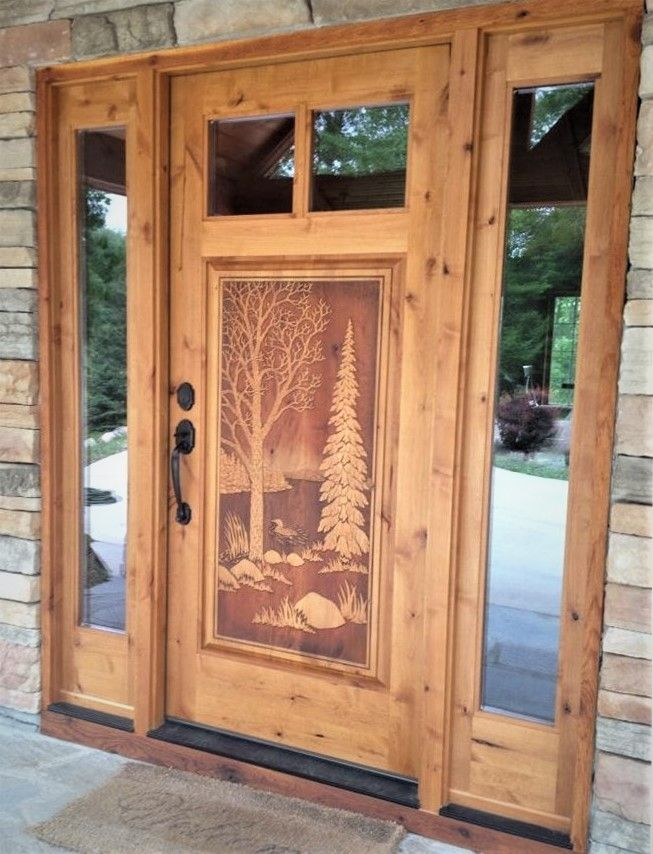 Carved Wood Front Doors Wood Front Doors Custom Wood Doors Custom Front Doors