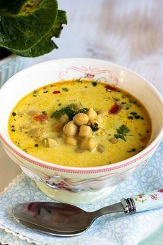 Rezept für eine schnelle, gesunde Kichererbsensuppe mit Kokosmilch und viel …   – Suppe