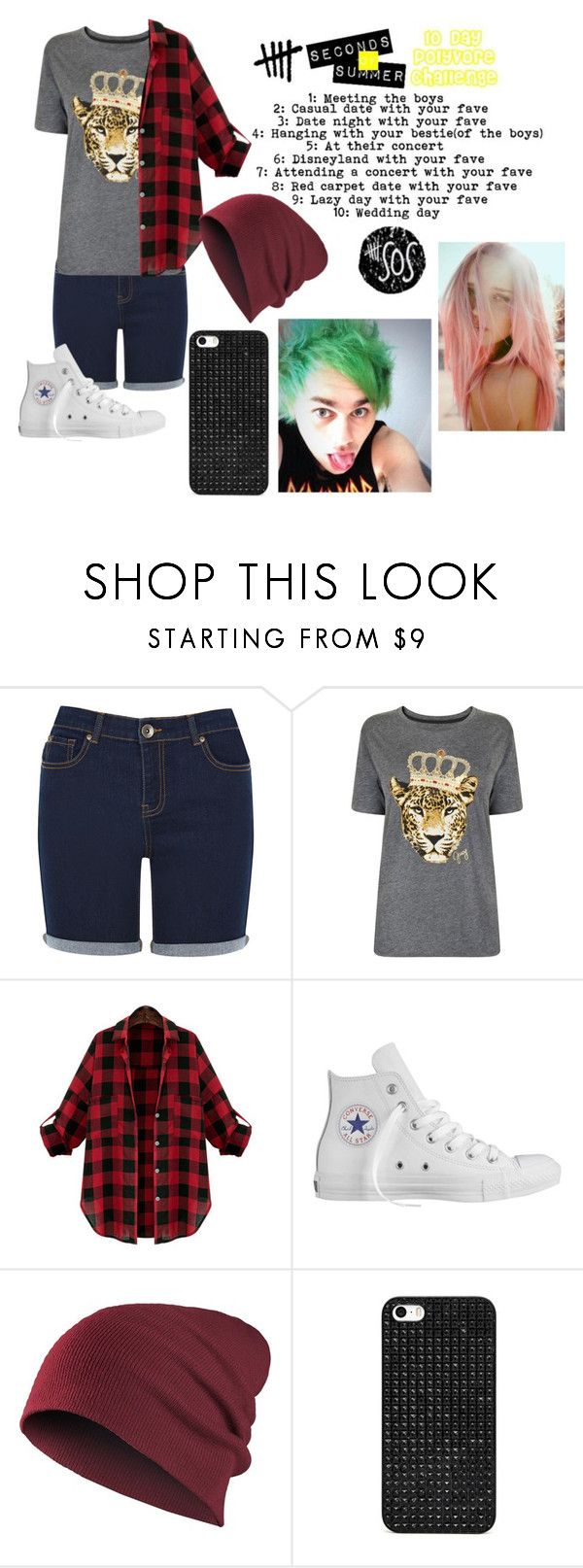 """""""5sos ten day polyvore challenge day 2: casual date with your fav"""" by gglloyd ❤ liked on Polyvore featuring Oasis, Juicy Couture, Converse and BaubleBar"""