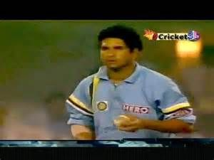 Sachin's heroics with ball.. bowling the last over in the 5-nation hero cup(1993) semifinal against SA. Conceded just 3 runs when 6 runs were required from the last over.