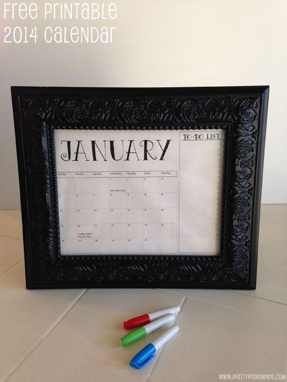 FREE printable 2014 calendar, plus an awesome easy gift idea!