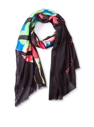 73% OFF Micky London Women's Butterfly Effect Scarf, Pink/Green Multi