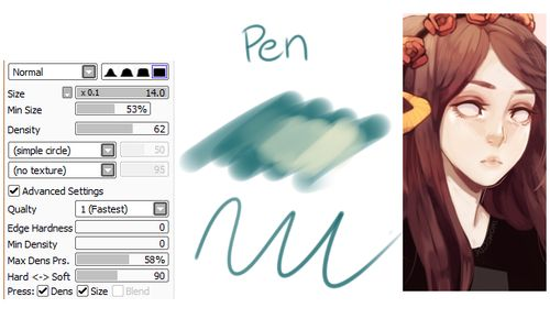 how to draw in paint tool sai with mouse