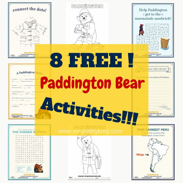 Here are 8 Free Paddington Activities that would make a perfect addition to a Paddington Bear Themed party.