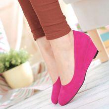 Nuovo 6 colori per opzione nuovo arriva moda dolce Casual scarpe tacco alto per le donne in rosso, viola, nero(China (Mainland))