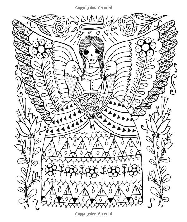 Just Add Color Day Of The Dead 30 Original Illustrations