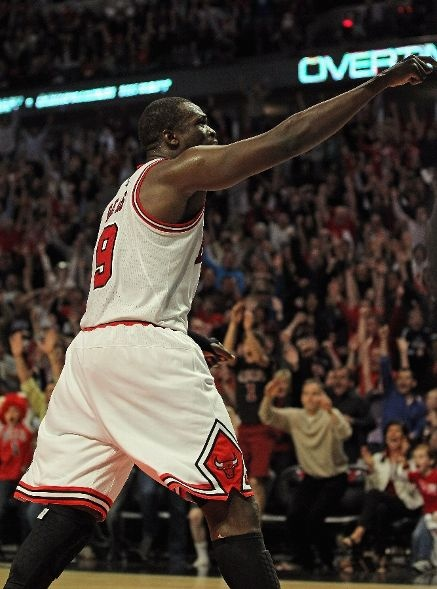 Luol Deng with the game winner!