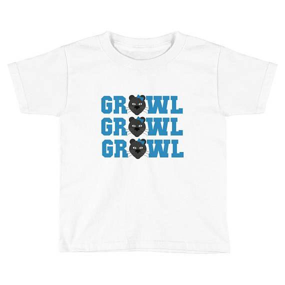 Carolina Panthers Growl Growl Growl Girls Short Sleeve T-Shirt