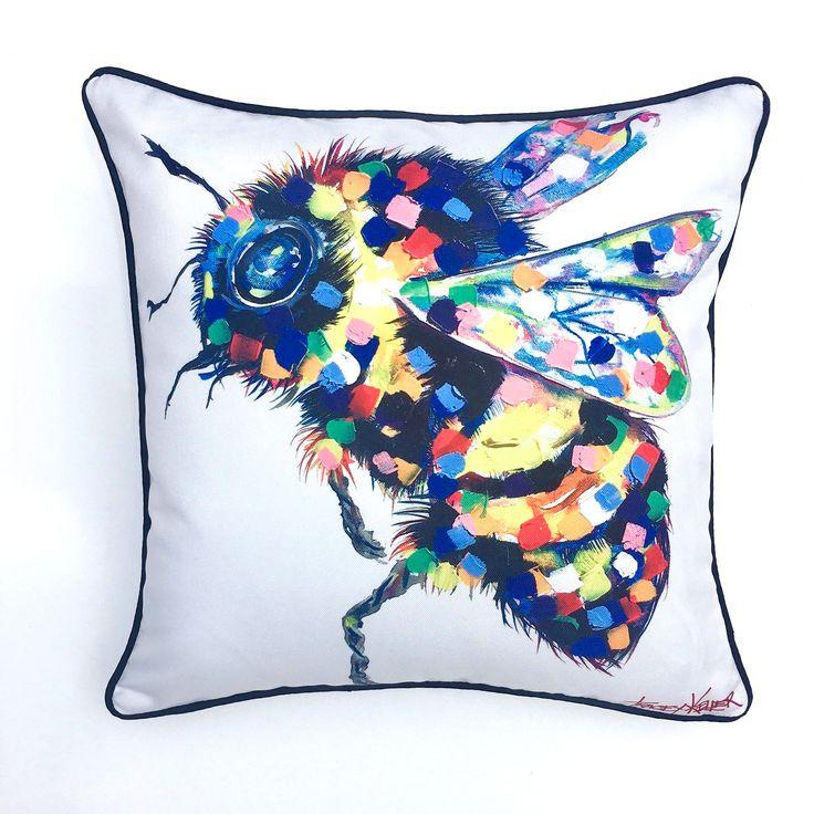 Bee Indoor/Outdoor Cushion Cover - Tracey Keller