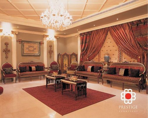 Morrocan style living room interior by prestige furnitures for Rich colors for living room