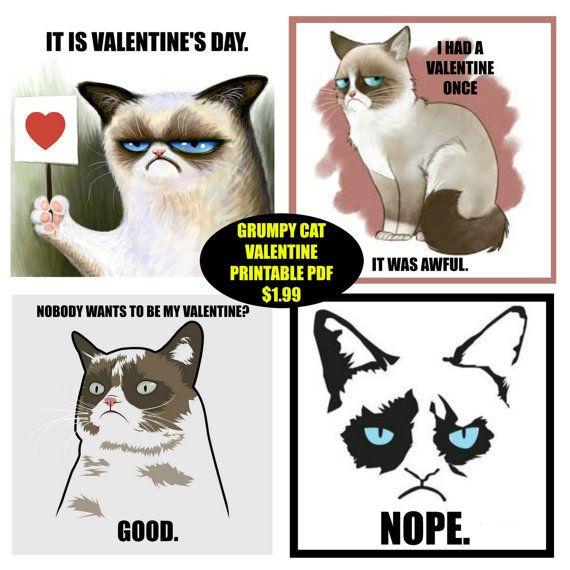 The 25 best Grumpy cat valentines ideas on Pinterest  Grumpy cat