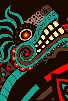 Gorgeous Waist Tutorials From Home Posters Geek, Art Chicano, Hawaiianisches Tattoo, Aztec Culture, Art Tribal, Aztec Warrior, Mexico Art, Mexican Designs, Ancient Art