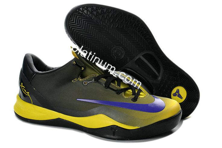 online retailer bebf1 fd596 Black Yellow Blue Kobe 8 System MC Mambacurial FB 615315 For Wholesale Cheap