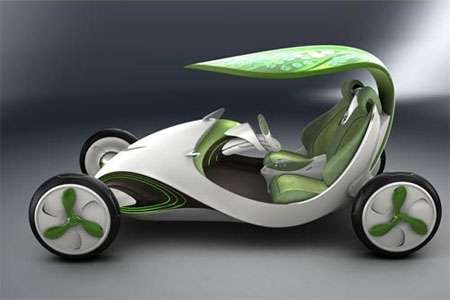 Leafy Chariots - The Leaf Car Gets Power from its Roof (GALLERY)