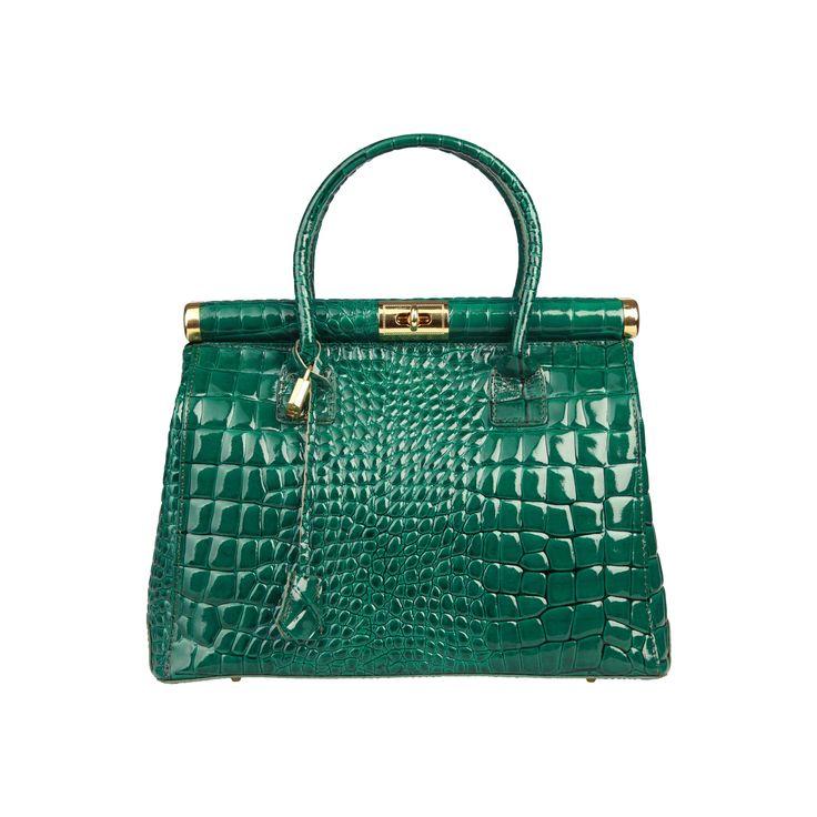 Geanta dama Made in Italia Brescia verde