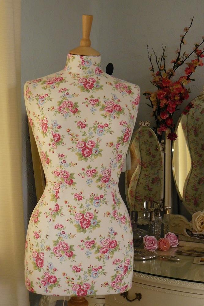 made using Cath Kidston fabric #mannequin #cathkidston #dressform